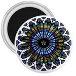 Rose Window Strasbourg Cathedral 3  Magnets Front