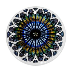 Rose Window Strasbourg Cathedral Ornament (Round)