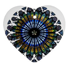 Rose Window Strasbourg Cathedral Ornament (Heart)