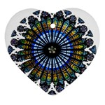 Rose Window Strasbourg Cathedral Ornament (Heart)  Front