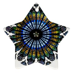 Rose Window Strasbourg Cathedral Ornament (Star)