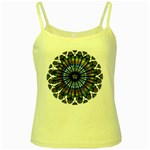 Rose Window Strasbourg Cathedral Yellow Spaghetti Tank Front
