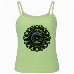 Rose Window Strasbourg Cathedral Green Spaghetti Tank