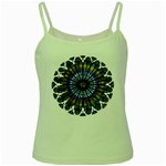 Rose Window Strasbourg Cathedral Green Spaghetti Tank Front