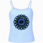 Rose Window Strasbourg Cathedral Baby Blue Spaghetti Tank Front
