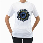 Rose Window Strasbourg Cathedral Women s T-Shirt (White) (Two Sided) Front