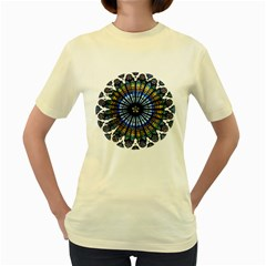 Rose Window Strasbourg Cathedral Women s Yellow T-Shirt