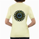 Rose Window Strasbourg Cathedral Women s Yellow T-Shirt Back