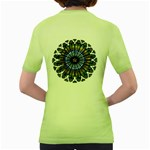 Rose Window Strasbourg Cathedral Women s Green T-Shirt Back
