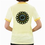 Rose Window Strasbourg Cathedral Women s Fitted Ringer T-Shirts Back