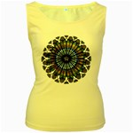 Rose Window Strasbourg Cathedral Women s Yellow Tank Top Front