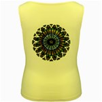 Rose Window Strasbourg Cathedral Women s Yellow Tank Top Back