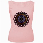 Rose Window Strasbourg Cathedral Women s Pink Tank Top Front