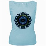 Rose Window Strasbourg Cathedral Women s Baby Blue Tank Top Front