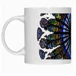 Rose Window Strasbourg Cathedral White Mugs Left