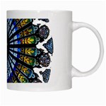 Rose Window Strasbourg Cathedral White Mugs Right