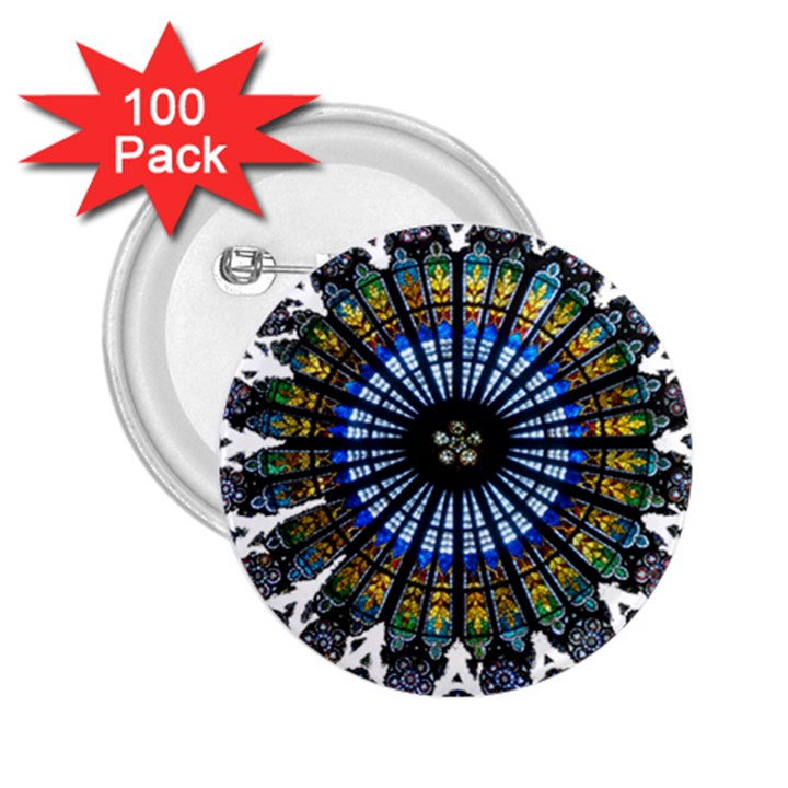 Rose Window Strasbourg Cathedral 2.25  Buttons (100 pack)