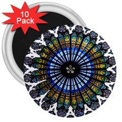 Rose Window Strasbourg Cathedral 3  Magnets (10 pack)