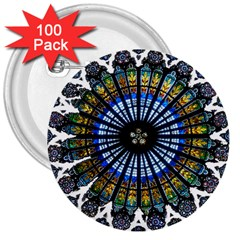 Rose Window Strasbourg Cathedral 3  Buttons (100 pack)