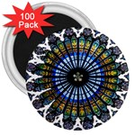 Rose Window Strasbourg Cathedral 3  Magnets (100 pack) Front