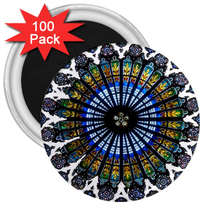 Rose Window Strasbourg Cathedral 3  Magnets (100 pack)
