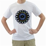 Rose Window Strasbourg Cathedral Men s T-Shirt (White) (Two Sided) Front