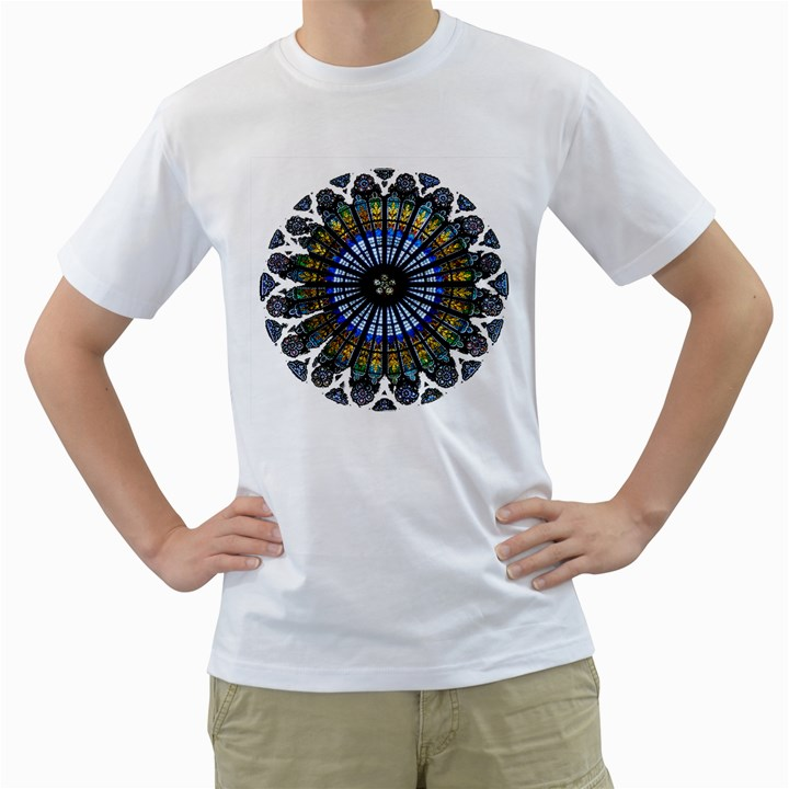 Rose Window Strasbourg Cathedral Men s T-Shirt (White) (Two Sided)