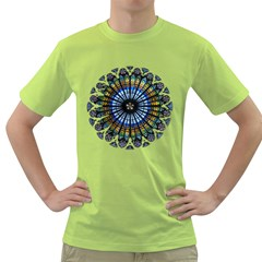 Rose Window Strasbourg Cathedral Green T-Shirt