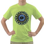 Rose Window Strasbourg Cathedral Green T-Shirt Front