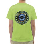 Rose Window Strasbourg Cathedral Green T-Shirt Back