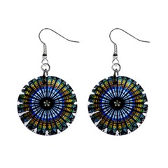 Rose Window Strasbourg Cathedral Mini Button Earrings