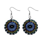 Rose Window Strasbourg Cathedral Mini Button Earrings Front