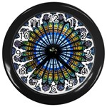 Rose Window Strasbourg Cathedral Wall Clocks (Black) Front
