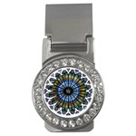 Rose Window Strasbourg Cathedral Money Clips (CZ)  Front