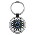 Rose Window Strasbourg Cathedral Key Chains (Round)  Front