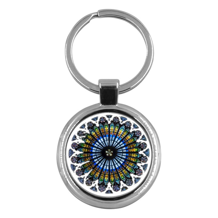Rose Window Strasbourg Cathedral Key Chains (Round)