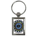 Rose Window Strasbourg Cathedral Key Chains (Rectangle)  Front