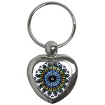 Rose Window Strasbourg Cathedral Key Chains (Heart)  Front