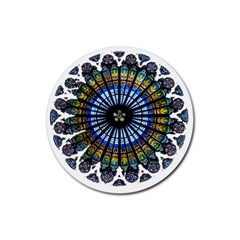 Rose Window Strasbourg Cathedral Rubber Coaster (Round)
