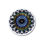 Rose Window Strasbourg Cathedral Rubber Coaster (Round)  Front