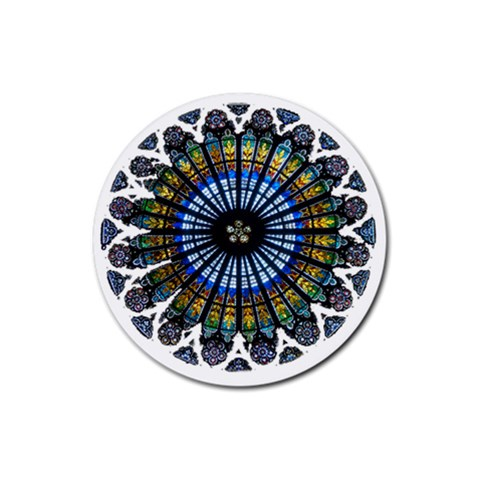 Rose Window Strasbourg Cathedral Rubber Round Coaster (4 pack)