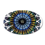 Rose Window Strasbourg Cathedral Oval Magnet Front