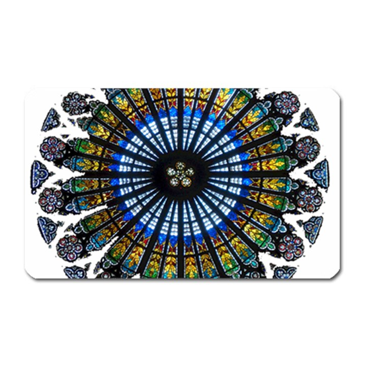 Rose Window Strasbourg Cathedral Magnet (Rectangular)