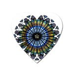 Rose Window Strasbourg Cathedral Heart Magnet Front