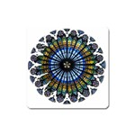 Rose Window Strasbourg Cathedral Square Magnet Front