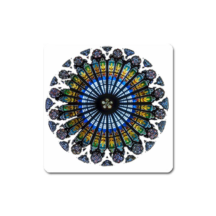 Rose Window Strasbourg Cathedral Square Magnet