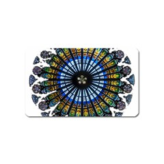 Rose Window Strasbourg Cathedral Magnet (Name Card)