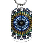 Rose Window Strasbourg Cathedral Dog Tag (One Side) Front