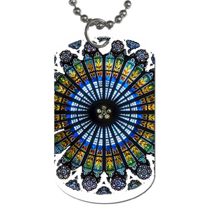 Rose Window Strasbourg Cathedral Dog Tag (One Side)