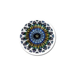 Rose Window Strasbourg Cathedral Golf Ball Marker (10 pack)